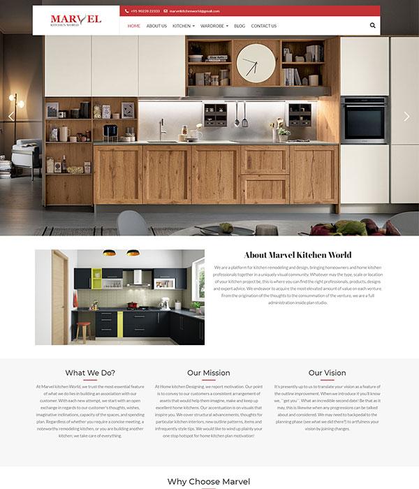 Marvel Modular kitchen